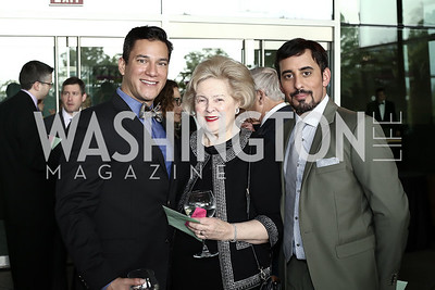 Actor Nicholas Rodriguez, Beth Newberger, Actor Nehal Joshi. Photo by Tony Powell. Ana Gasteyer Benefit. Arena Stage. May 9, 2016