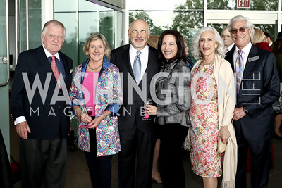 Richard Snowdon, Katie Snowdon, Ross and Susan Hechinger, Peggy and Dave Shiffrin. Photo by Tony Powell. Ana Gasteyer Benefit. Arena Stage. May 9, 2016