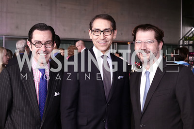 Jon Bouker, Arthur Espinoza, David Grosso. Photo by Tony Powell. Ana Gasteyer Benefit. Arena Stage. May 9, 2016