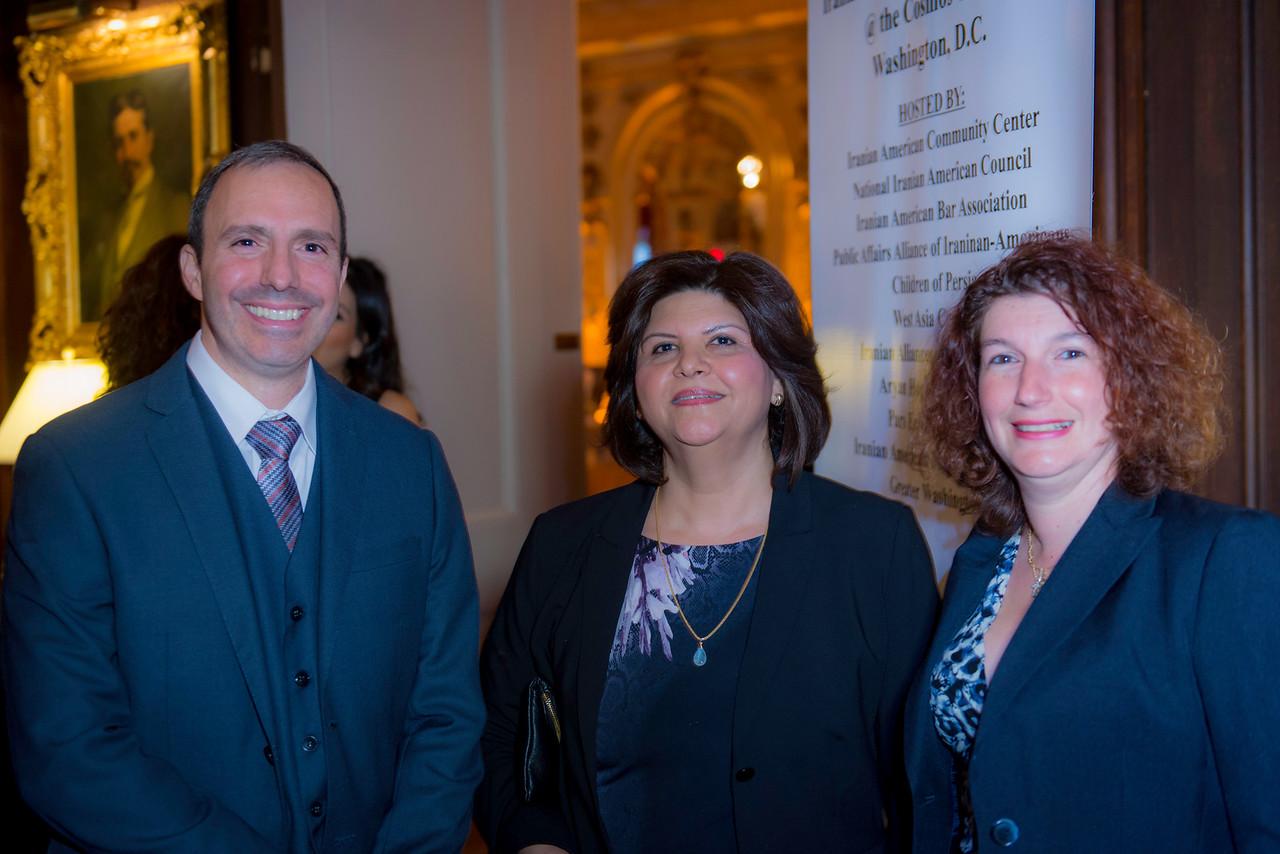 Joseph Conti, Zora Mansouri, and Stacey Conti