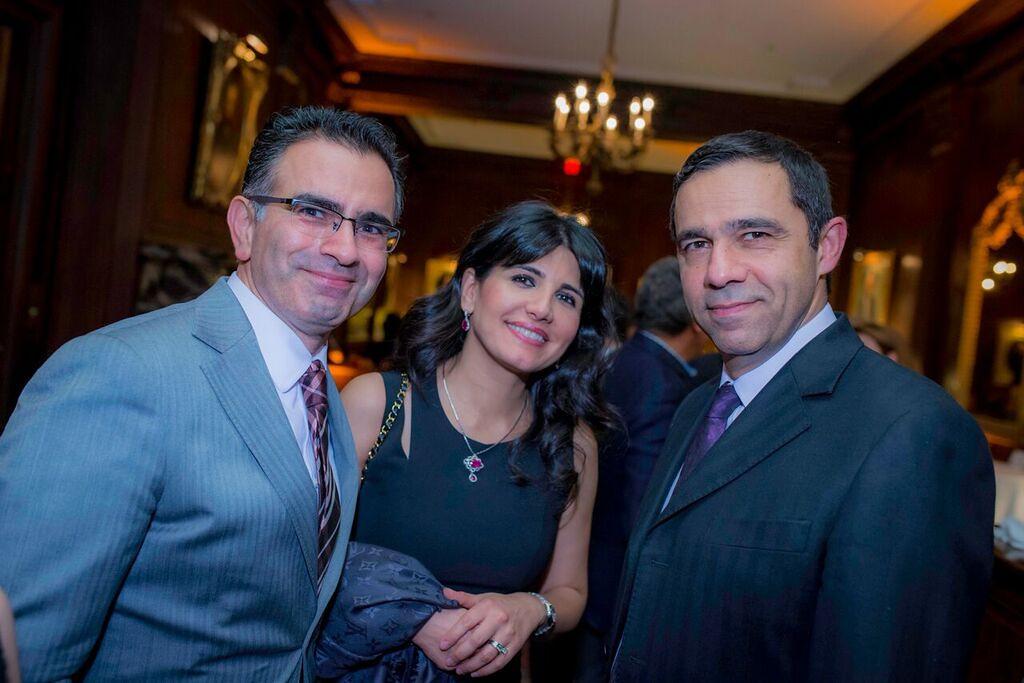 Dr. Reza Mirali (President, Iranian American Medical Society), Dr. Shabnam Shahabadi, Alidad Mafinezam (President, West Asia Council)