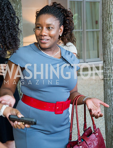 Michelle Gibbons (Embassy of Barbados).  Photo by Erin Schaff. 2016 Annual Social Secretaries Cocktail Reception hosted by White House Social Secretary, Deesha Dyer. Meridian International Center. July 7, 2016.
