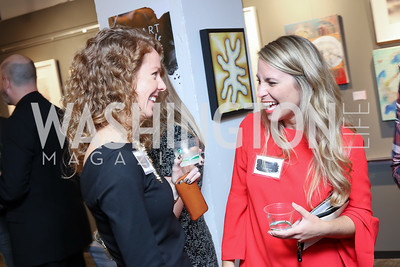 Kate Maxwell, Jessica Zullo. Photo by Tony Powell. Art Night 2016. Hickok Cole Architects. November 3, 2016