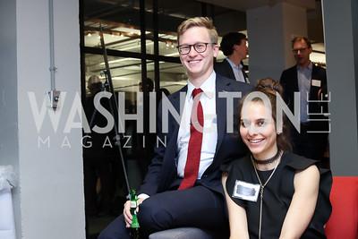 Sean McCready, Caroline Meyer. Photo by Tony Powell. Art Night 2016. Hickok Cole Architects. November 3, 2016