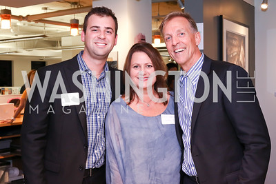 Brian Alvarez, Lisa Carter, Mark Strandquist. Photo by Tony Powell. Art Night 2016. Hickok Cole Architects. November 3, 2016