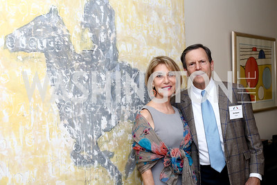 Jim Speyer, Gina Steinway. Photo by Tony Powell. BPC Pre-election Prediction Party. Glickman Residence. June 9, 2016