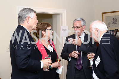 Don Foley, Louise Hilsen, David Carlin, Jim Kolbe. Photo by Tony Powell. BPC Pre-election Prediction Party. Glickman Residence. June 9, 2016