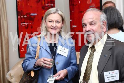 Debra Cabral, Scott Fleming. Photo by Tony Powell. BPC Pre-election Prediction Party. Glickman Residence. June 9, 2016