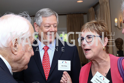 Don Foley, Louise Hilsen. Photo by Tony Powell. BPC Pre-election Prediction Party. Glickman Residence. June 9, 2016