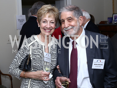 Dr. Elizabeth Sherman, Mickey Edwards. Photo by Tony Powell. BPC Pre-election Prediction Party. Glickman Residence. June 9, 2016
