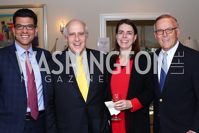 BBC President Jason Grumet, Dan Glickman, BPC Senior VP Julie Anderson, Byron Dorgan. Photo by Tony Powell. BPC Pre-election Prediction Party. Glickman Residence. June 9, 2016