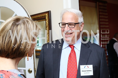 Gina Steinway, Michael Salzburg. Photo by Tony Powell. BPC Pre-election Prediction Party. Glickman Residence. June 9, 2016