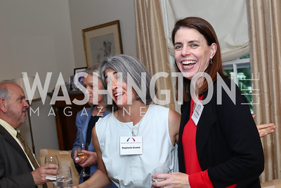 Stephanie Grumet, BPC Senior VP Julie Anderson. Photo by Tony Powell. BPC Pre-election Prediction Party. Glickman Residence. June 9, 2016