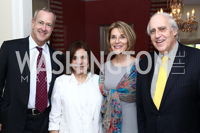 Jon Gossett, Rhoda Glickman, Gina Steinway, Dan Glickman. Photo by Tony Powell. BPC Pre-election Prediction Party. Glickman Residence. June 9, 2016