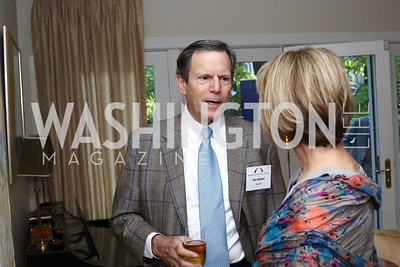 Jim Speyer, Gina Steinway. Photo by Tony Powell. BPC Pre-election Prediction Party. Glickman Residence. June 9, 2016