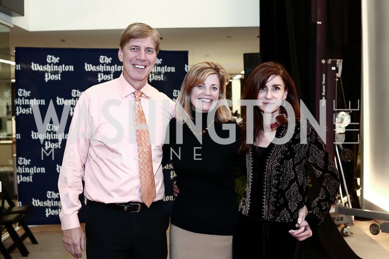 Ed Thiede, Mary Jordan, Kyle Gibson. Photo by Tony Powell. Bradlee Story Conference Room Dedication. Washington Post. January 27, 2016