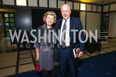 Diana Negroponte , John Negroponte. Photo by Alfredo Flores. Berliner Salon Book Party. German Ambassador's Residence. May 10, 2016