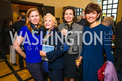 Huberta von Voss-Wittig, Gail Jacobs, Heidi Debevoise, Capricia Marshall. Photo by Alfredo Flores. Berliner Salon Book Party. German Ambassador's Residence. May 10, 2016