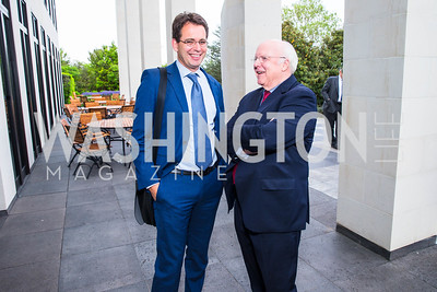 Jackson James, Clemens Wergin. Photo by Alfredo Flores. Berliner Salon Book Party. German Ambassador's Residence. May 10, 2016