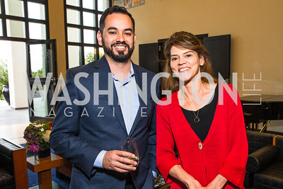 Dan McSwain, Barbara Plett-Usher. Photo by Alfredo Flores. Berliner Salon Book Party. German Ambassador's Residence. May 10, 2016