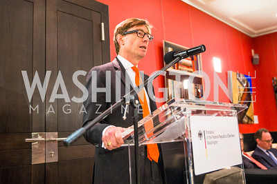 Ambassador Peter Wittig. Photo by Alfredo Flores. Berliner Salon Book Party. German Ambassador's Residence. May 10, 2016