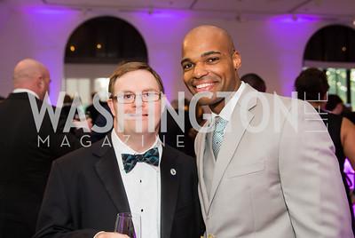 Eric Latcheran, Best Buddies Virginia and Steven Woodson. Photo by Erin Schaff. 2016 Best Buddies Capital Region Prom. Carnegie Library. May 13, 2016.