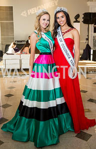 Miss Virginia Teen USA Gracyn Blackmore, Miss District of Columbia Teen USA Dylan Murphy Photo by Erin Schaff. 2016 Best Buddies Capital Region Prom. Carnegie Library. May 13, 2016.