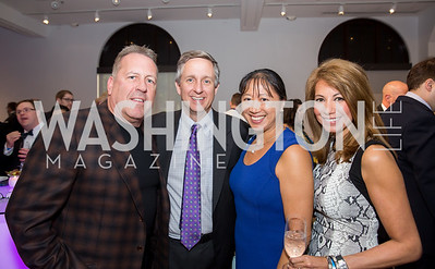 John Oswald, Jim Lintott, May Liang, Mona Oswald. Photo by Erin Schaff. 2016 Best Buddies Capital Region Prom. Carnegie Library. May 13, 2016.