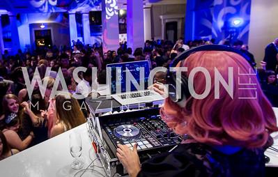 DJ Neekola. Photo by Erin Schaff. 2016 Best Buddies Capital Region Prom. Carnegie Library. May 13, 2016.