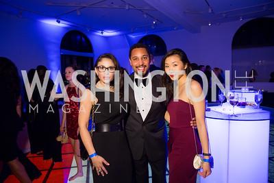 Vanessa Daniel, Nicholas Jordan, Jessica Liu. Photo by Erin Schaff. 2016 Best Buddies Capital Region Prom. Carnegie Library. May 13, 2016.