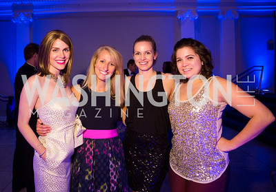 Brigid Marmion, Bethany Becker, Liz Jordan, Cristina Cardenal. Photo by Erin Schaff. 2016 Best Buddies Capital Region Prom. Carnegie Library. May 13, 2016.