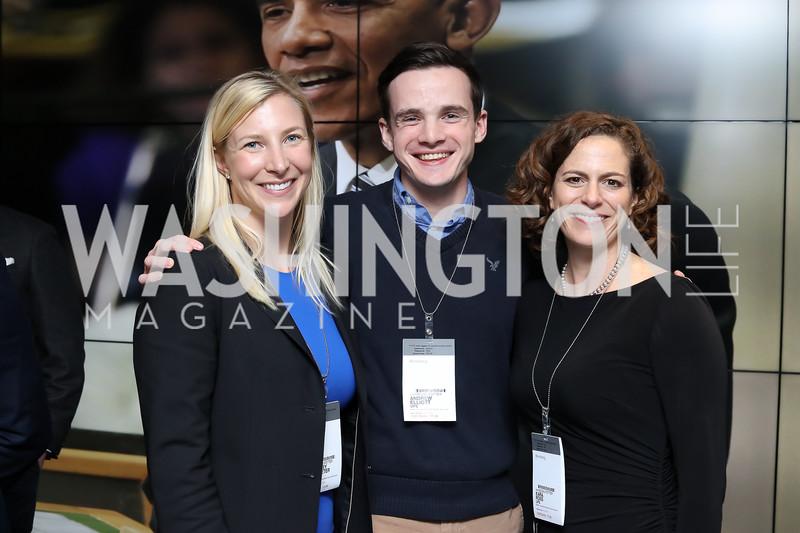 Carol Danno, Daniel Lippman, Samantha Boyd. Photo by Tony Powell. Bloomberg DC Bureau Open House. October 27, 2016