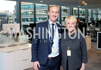 Ty Trippet, Linda Douglass. Photo by Tony Powell. Bloomberg DC Bureau Open House. October 27, 2016