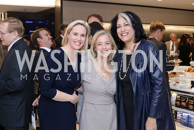 Bloomberg DC Bureau Chief Megan Murphy, Hilary Rosen, Tammy Haddad. Photo by Tony Powell. Bloomberg DC Bureau Open House. October 27, 2016