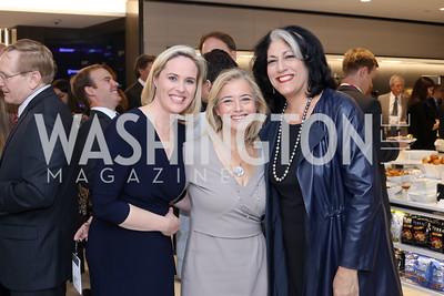 Bloomberg DC Bureau Chief Megan Murphy, Hilary Rosen, Tammy Haddad. Photo by Tony Powell. Bloomberg DC Bureau Open House. October 27, 2016