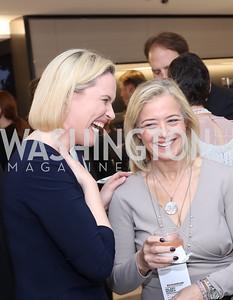 Bloomberg DC Bureau Chief Megan Murphy, Hilary Rosen. Photo by Tony Powell. Bloomberg DC Bureau Open House. October 27, 2016