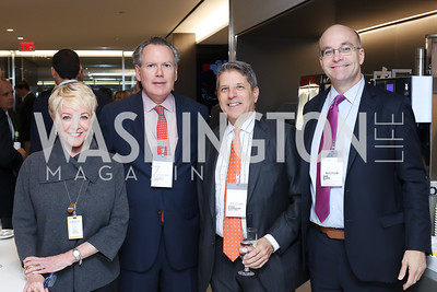 Linda Douglass, Kenneth Bentsen, Steve Elmendorf, Mike Allen. Photo by Tony Powell. Bloomberg DC Bureau Open House. October 27, 2016