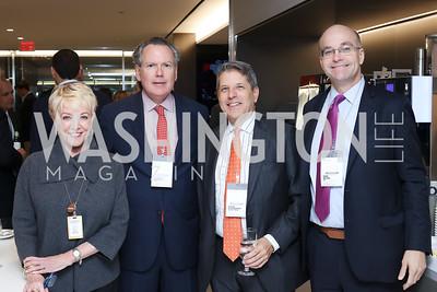 Linda Douglass, Kenneth Bentsen, Steve Elmendorf, Mike Allen. Photo by Tony Powell. Bloomberg DC Bureau Open House. October 27, 2016