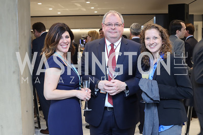Bloomberg TV DC's Christine Baratta, Bloomberg TV's Al Mayers, Michelle Jamrisko. Photo by Tony Powell. Bloomberg DC Bureau Open House. October 27, 2016