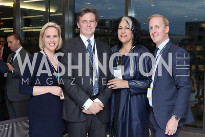 DC Bureau Chief Megan Murphy, Bloomberg Editor-in-Chief John Micklethwait, Tammy Haddad, Ty Trippet. Photo by Tony Powell. Bloomberg DC Bureau Open House. October 27, 2016
