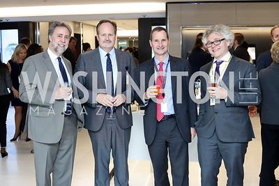 Jon Morgan, Tim O'Brien, David Dwyer, Rob Barnett. Photo by Tony Powell. Bloomberg DC Bureau Open House. October 27, 2016
