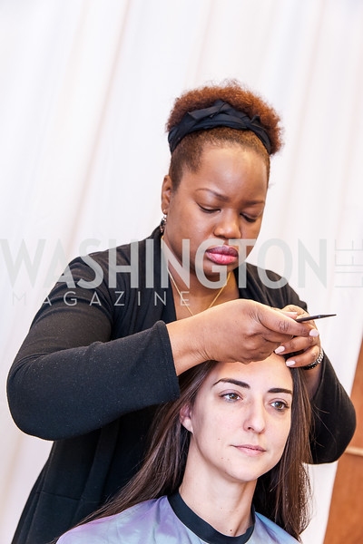 Stylist Shinika Parris, Kate Michael. Photo by Tony Powell. Bloomingdales Fashion Show. April 24, 2016