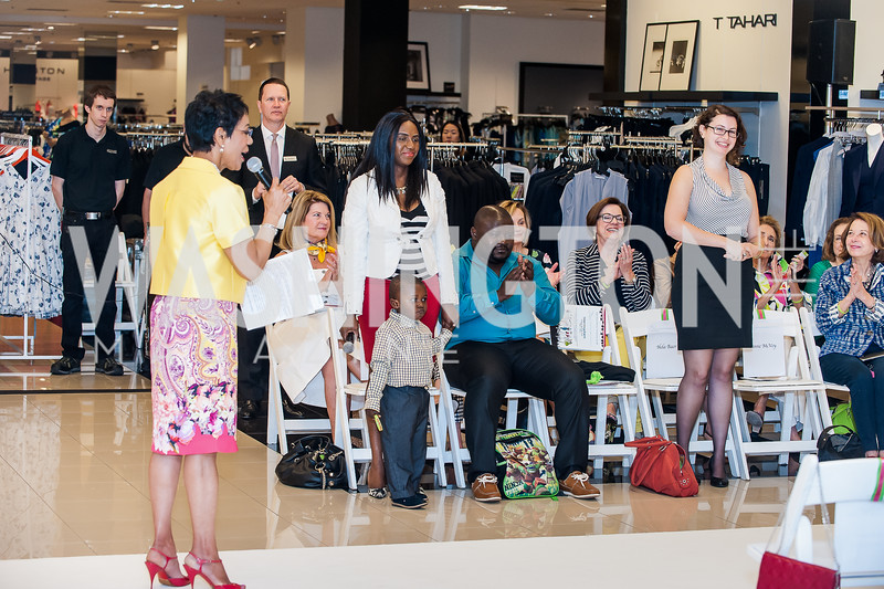 Andrea Roane, Martina Atabong, Hela Baer. Photo by Tony Powell. Bloomingdales Fashion Show. April 24, 2016