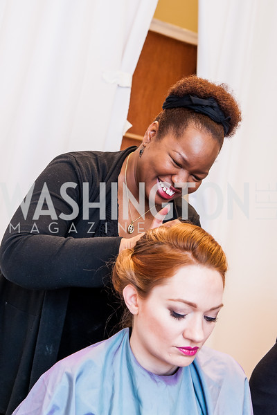 Stylist Shinika Parris, Catherine Pitcher. Photo by Tony Powell. Bloomingdales Fashion Show. April 24, 2016