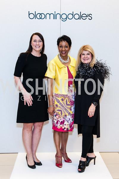 Heather Guay Yoo, Andrea Roane, Teresa Yurt. Photo by Tony Powell. Bloomingdales Fashion Show. April 24, 2016