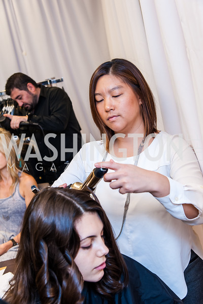 Katarina Pavic, Stylist Heather Myung-Jones. Photo by Tony Powell. Bloomingdales Fashion Show. April 24, 2016