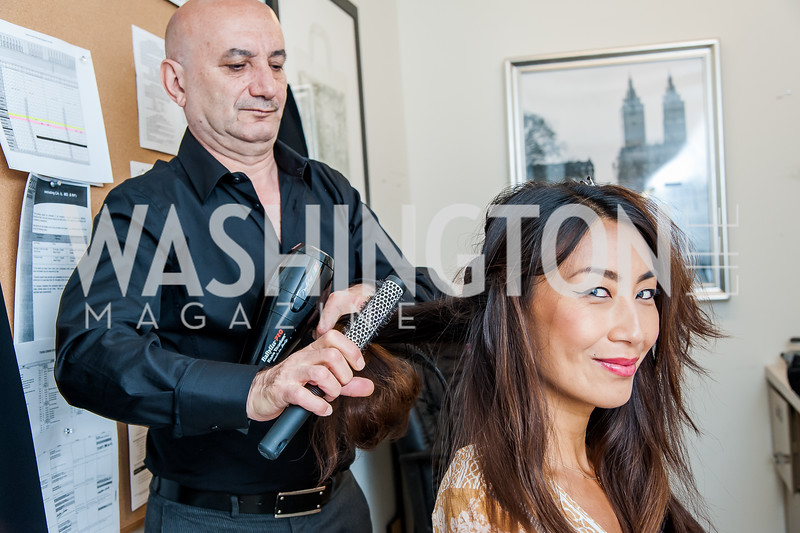 Stylist Mazir Ozturk, Yun Shen Chong. Photo by Tony Powell. Bloomingdales Fashion Show. April 24, 2016