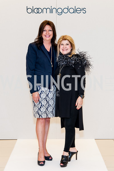 Sally Andrew-Pyne, Teresa Yurt. Photo by Tony Powell. Bloomingdales Fashion Show. April 24, 2016