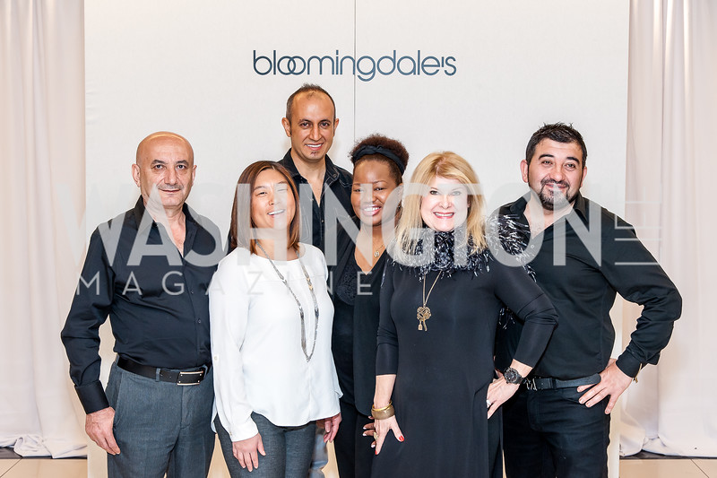 Stylists Mazir Ozturk, Heather Myung-Jones, Can Yurt, Shinika Parris, Teresa Yurt, and Engin Bozkurt. Photo by Tony Powell. Bloomingdales Fashion Show. April 24, 2016