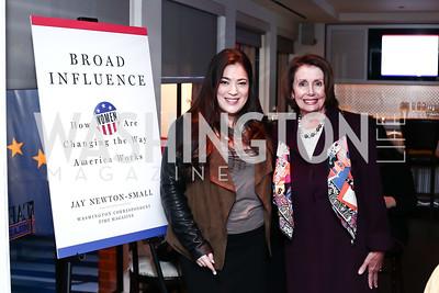 Jay Newton-Small, Leader Nancy Pelosi. Photo by Tony Powell. Jay Newton-Small Book Party. Cafe Milano. January 10, 2016